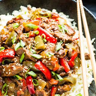Whole 30 & Paleo Slow Cooker Beef Teriyaki.