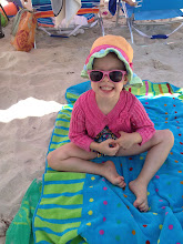 Photo: ellis ready for the beach in her cardigan