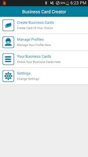 Business card creator apk download app screenshots reheart Choice Image