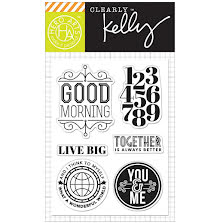 Hero Arts Kelly Purkey Clear Stamps 3X4 - Live Big UTGÅENDE