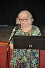 Photo: Beth Atwood reads her poetry.