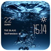 water weather widget/clock