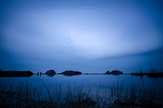 Photo: Awkward Silence San Francisco, CA. 2012.  Still learning how to use the Lee 10-stop filter, and finding that the really good stuff is in the very long exposure images. This shot was made in a eight+ minute exposure towards the tail end of the sunset.  The sunset this day was high and early, there was a dense fog layed offshore that made the sun disappear with a whimper, a single cloud moved towards shore until the rest of the light disappeared, and thats what I focused on.  One benefit from long exposures was its ability to do crowd control, the people on the right side of the image had been walking across the front of the image the whole time, but the only ones that came out in the image where the ones that stood still for a few minutes.  #longexposure