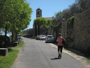 Photo: At lunchtime we reach the village of Lacoste ...