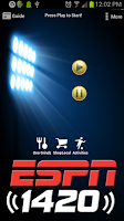 Screenshot of ESPN 1420 AM Honolulu