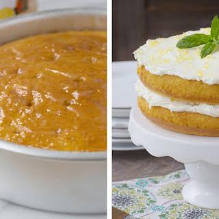Lemon Curd Poke Cake.