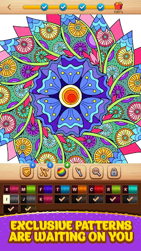 Cross Stitch Coloring Mandala screenshot 14