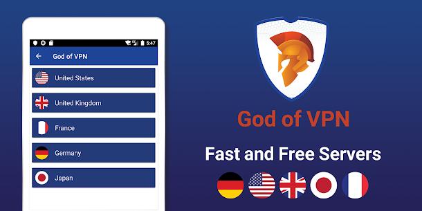 أفضل VPN مجاني – VPN سريع وآمن، God VPN 6