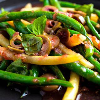 Green and Wax Bean Salad With Tomato Vinaigrette