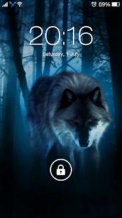 Vlk noční tapety, vlk pozadí 4K - náhled