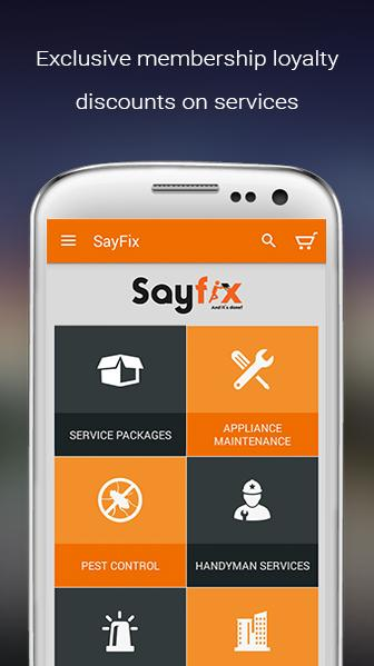 Sayfix- Trusted Local Services- screenshot