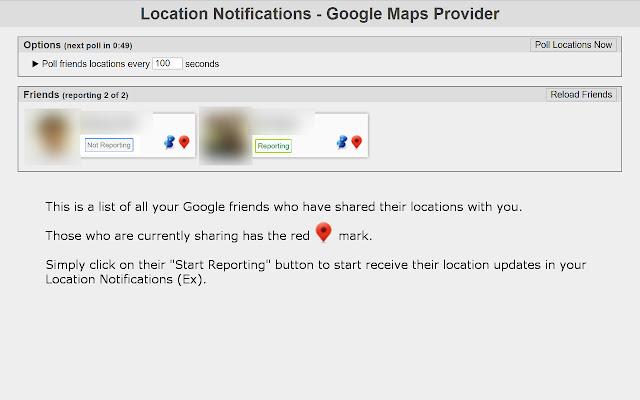 Location Notifications - Google Maps Provider