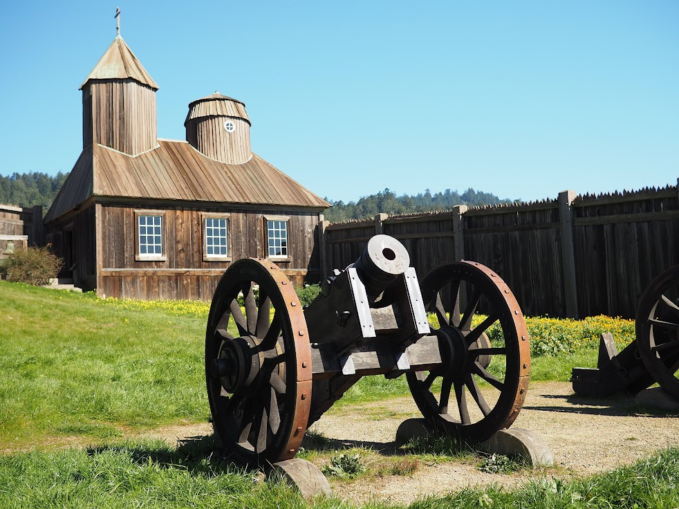 Fort Ross on Highway 1 was a Russian settlement between 1812 to 1842