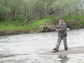 Photo: А как тут насчет рыбки? Капитан - главный добытчик.