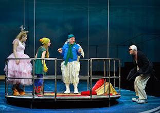Photo: WIEN/ Akademietheater: DIE SCHNEEKÖNIGIN - Märchen von Hans Christian Andersen. Inszenierung: Anette Raffalt, Premiere 15. November 2014. Nadia Migdal, Alina Fritsch, Dieter Knebel, Andre Meyer. Foto: Barbara Zeininger