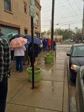 Photo: Waiting in the rain in Indy