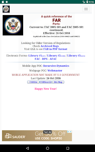 Screenshot for QuickFAR in United States Play Store