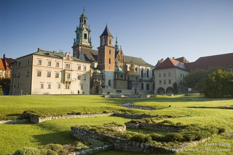 漫步~ 波蘭 克拉夫 老城 瓦維爾城堡 廣景照 Karkow Wawel panorama