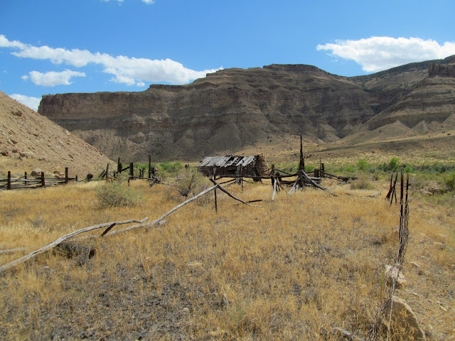 Corrals near the cabin