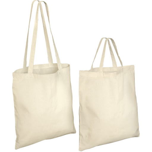 Branded Natural Cotton Shopping Bags