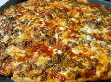 Thin Crust Beef Enchilada Pizza