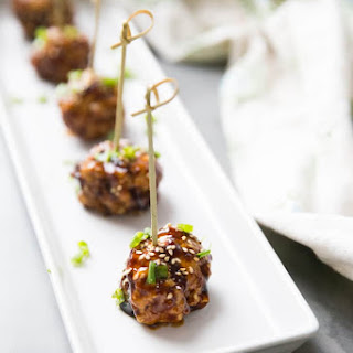 Kung Pao Cocktail Meatballs.