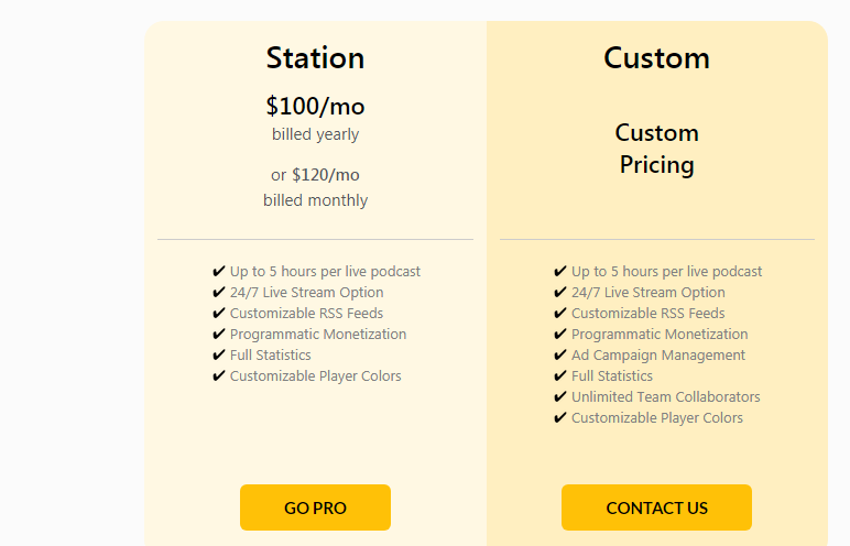 spreaker pricing