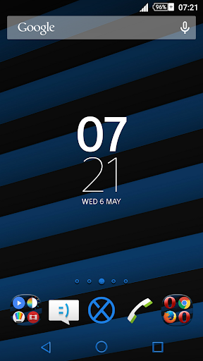 Streaks Blue XZ Theme