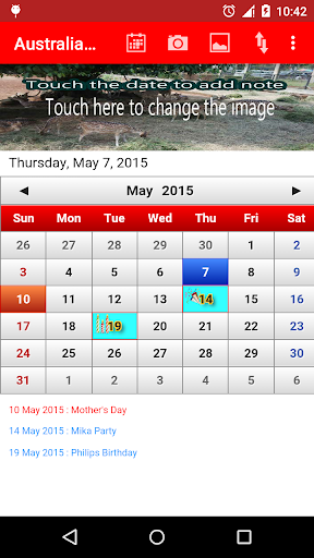 Australia Calendar 2015