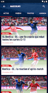 OL - OLPLAY, Match Center, Actus Capture d'écran
