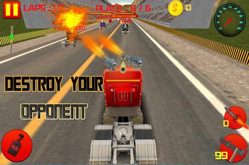 レアルトラック死のレースゲームの3D