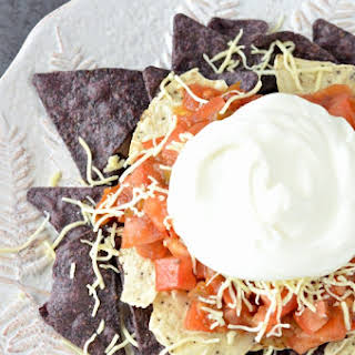 Red, White, and Blue Nachos.