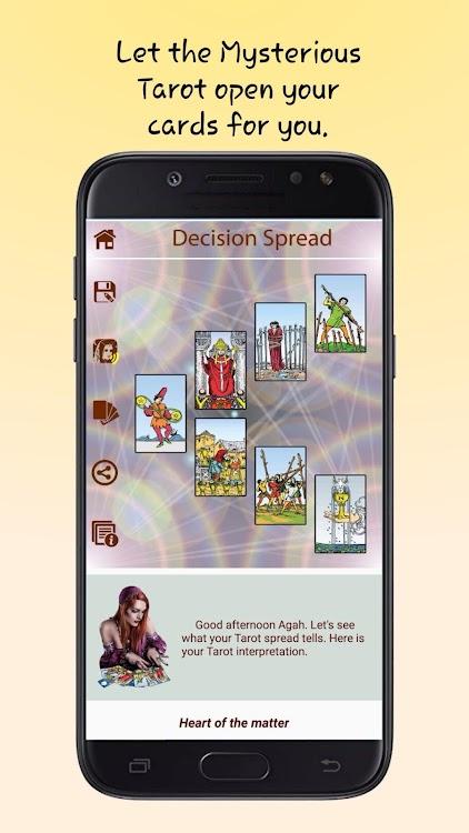 Mysterious Tarot - Free, Audible Tarot Reading App
