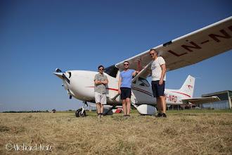 Photo: Gjengen etter å ha fløyet hele veien fra Oslo til Praha for egen maskin