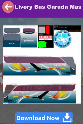 Livery Bussid HD Garuda Mas screenshots 3