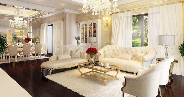TOP 20 các mẫu bàn ghế sofa tân cổ điển đẹp sang trọng kiểu Châu Âu