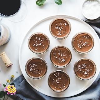 Salted Dark Chocolate Pots de Crème.