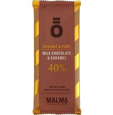 Mjölkchoklad & karamell 40 % - Malmö Chokladfabrik