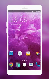 Romantic purple Theme for Intex Aqua A2 - náhled