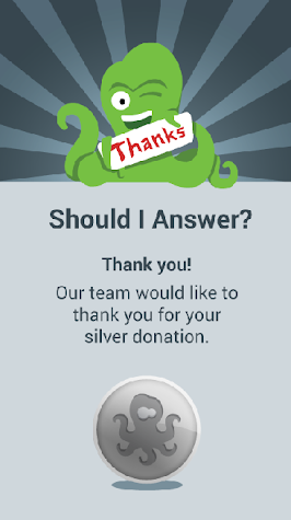 Should I Answer Donation Silvr Screenshot