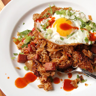 Kimchi and Spam Fried Rice.
