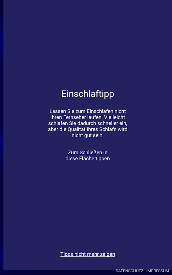 Schlafmessung- screenshot