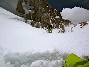 Photo: Last steep meters below the col