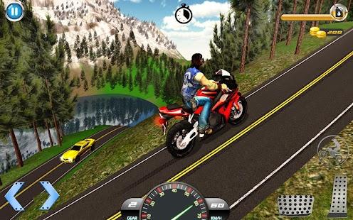 Moto Kolo Řídit 3D : kolo řízení hry - náhled