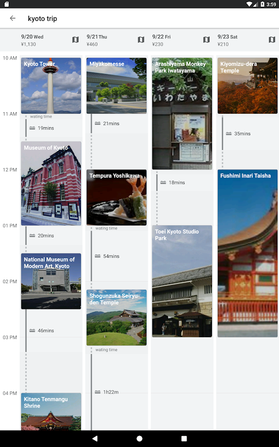 NAVITIME Travel - Itinerary Planner for Japan Trip- screenshot