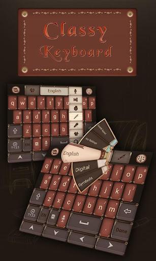 Classy GO Keyboard Theme