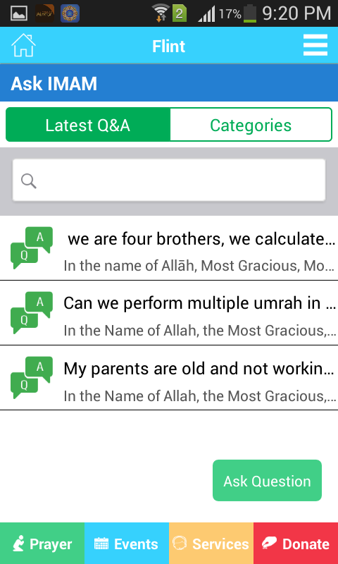 Flint Islamic Center or FIC- screenshot