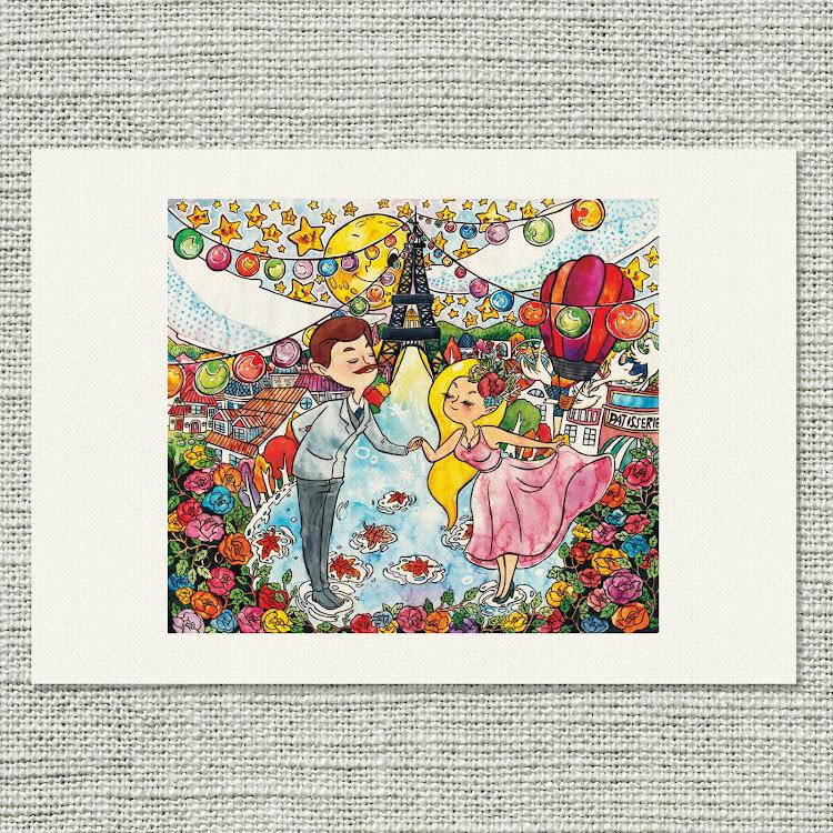 A4 Canvas Print【C'est La'mour】 by Jeovine