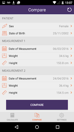 Instant Weight For Height 1.8 screenshots 5