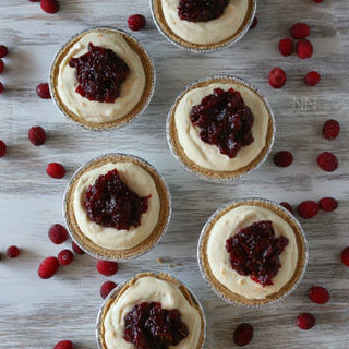 Cranberry Orange No Bake Creme Fraiche Cheesecake
